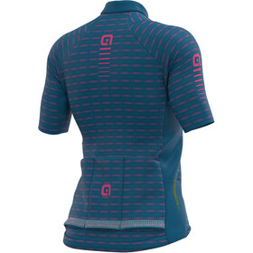 Alé Cycling Graphics PRR Green Road Maillot Manches courtes Femme, azure blue/fluo pink